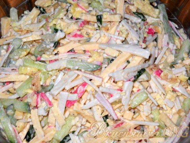 крабовый салат с сыром рецепт