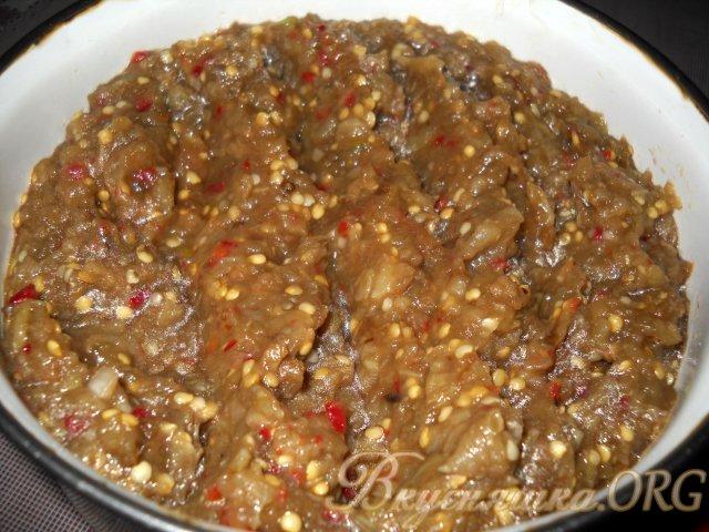 сырая икра из баклажанов рецепт с фото