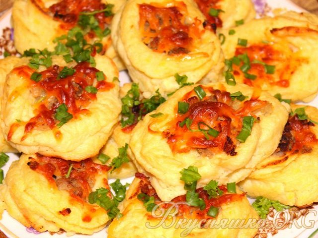 Гнезда с фаршем рецепт с фото в духовке с соусом