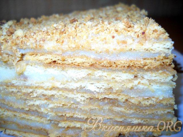 слоеный медовик торт рецепт