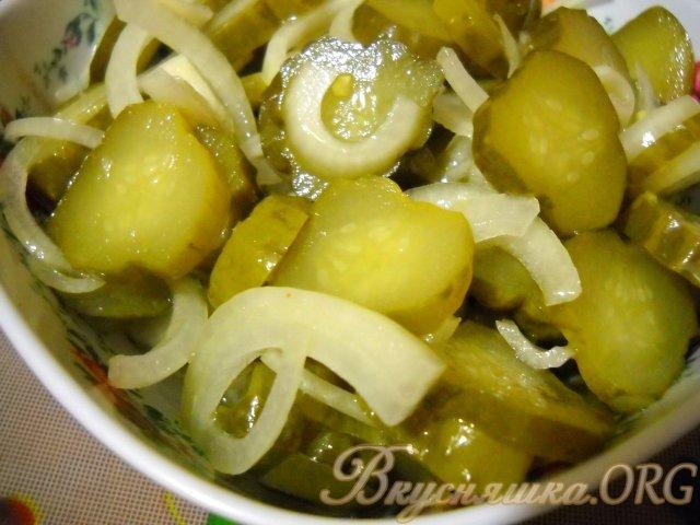 Салат из соленого огурца рецепт с фото