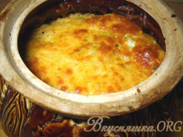 Рецепт картошки с грибами в горшочке